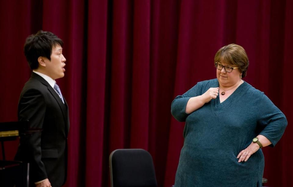 Jane Eaglen (with Junhan Choi) taught three master classes as a visitor to NEC last month.