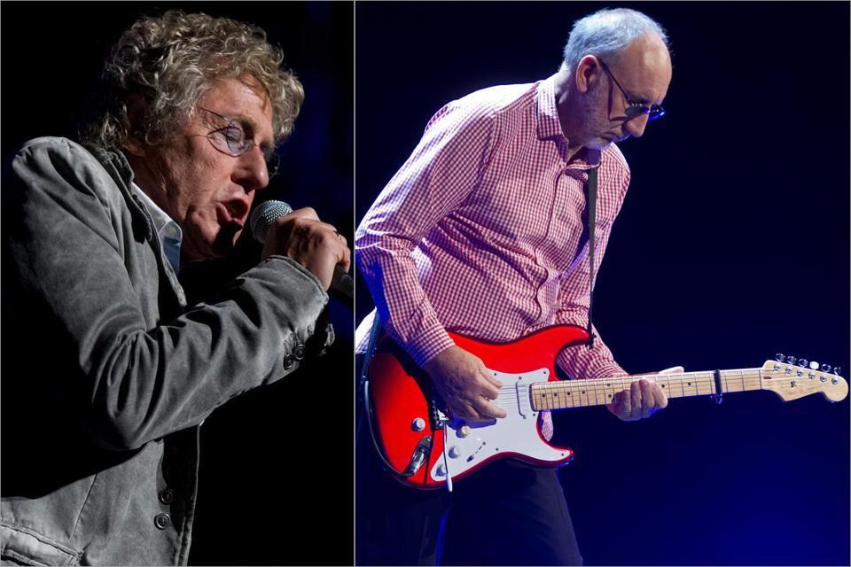 Roger Daltrey (left) and Pete Townshend led a reconstituted Who at TD Garden Friday night.