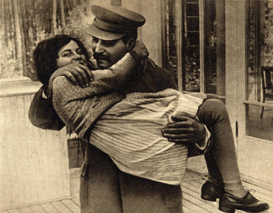 Soviet dictator Josef Stalin with his daughter Svetlana Alliluyeva, who died last year at 85. She defected to the United States in 1967.