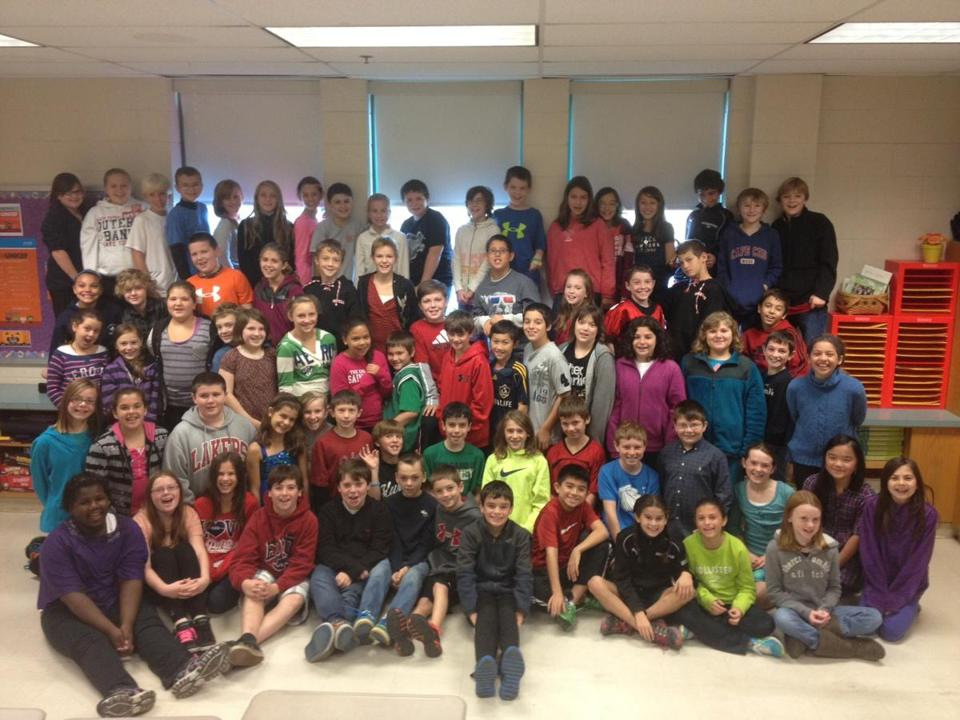 Three classes of fifth-graders at Kingston Intermediate School raised $600 for UNICEF and over $1,000 more for mostly local causes.