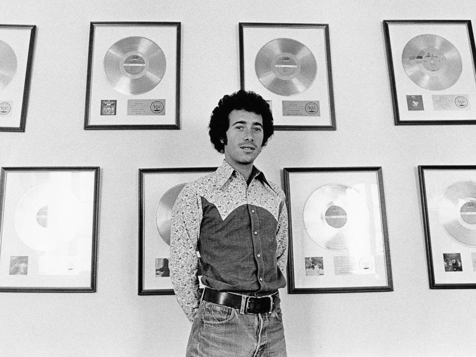 "David Geffen, circa 1972, is the subject of an ""American Masters"" documentary. He founded Asylum Records with Elliot Roberts in 1970 and in 1972 sold it to Warner Communications."