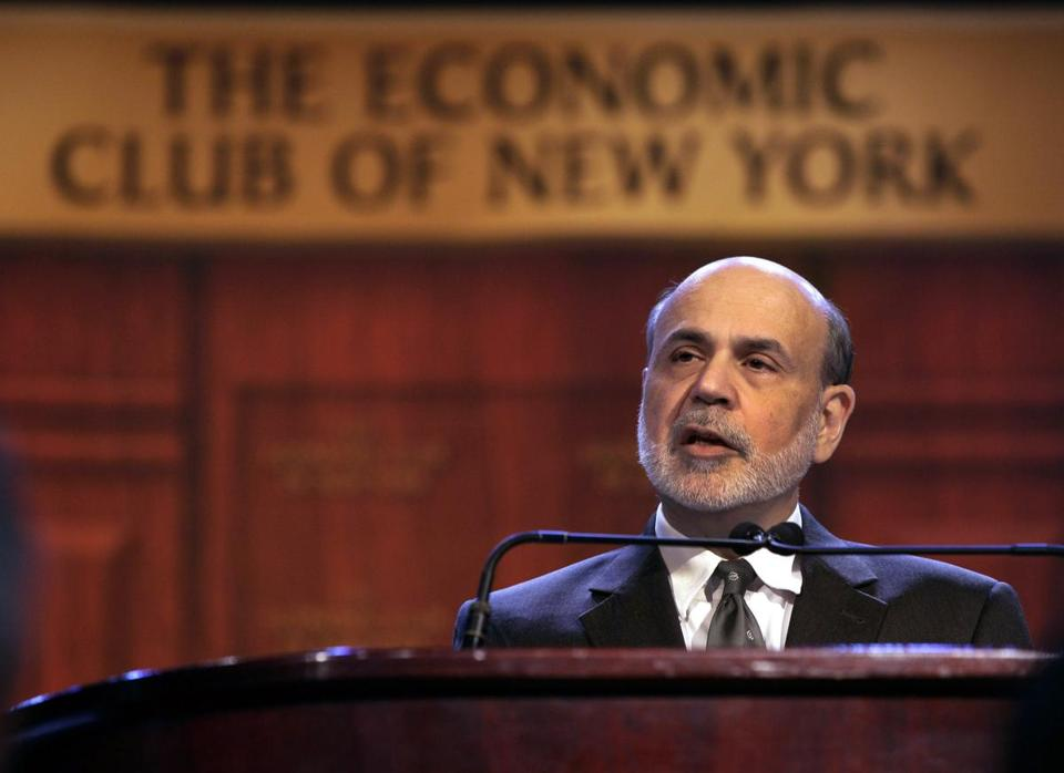 Fed chief Ben Bernanke said the economic recovery has been hampered by frustrating ''headwinds,'' including the housing market and fiscal gridlock in Washington.