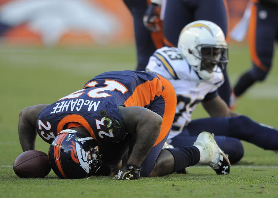 Broncos running back Willis McGahee tore a ligament in his right knee and will be out for what's expected to be 6-8 weeks.