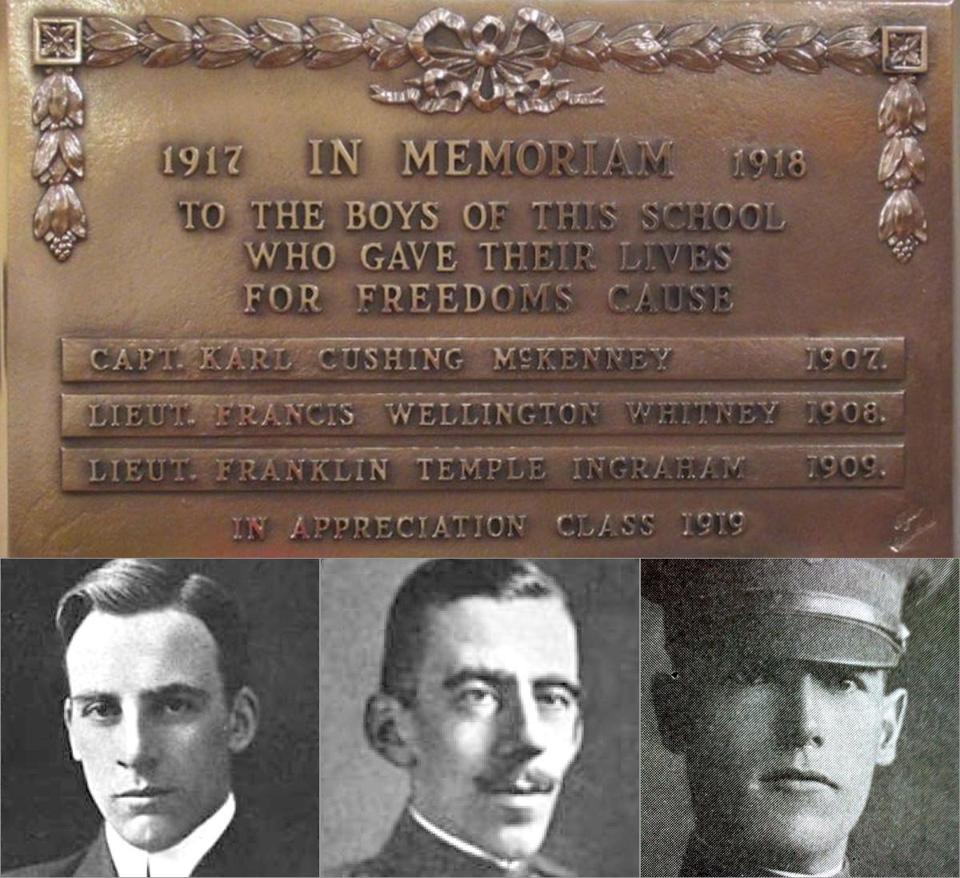 (From left to right)  Francis W. Whitney,  Franklin Temple Ingraham, and Karl Cushing McKenney.