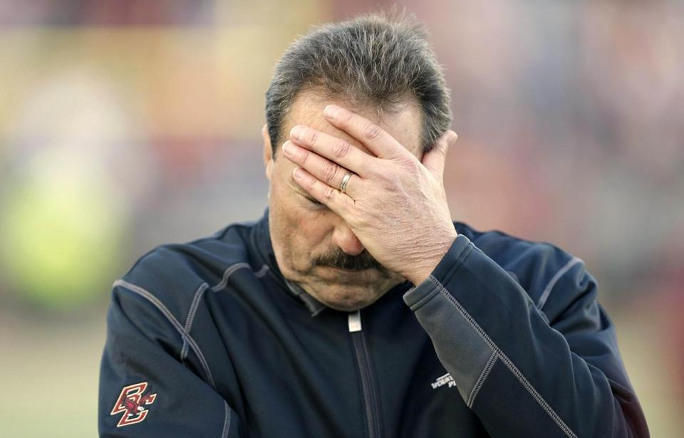 Boston College coach Frank Spaziani's job security has been a topic of discussion all season.
