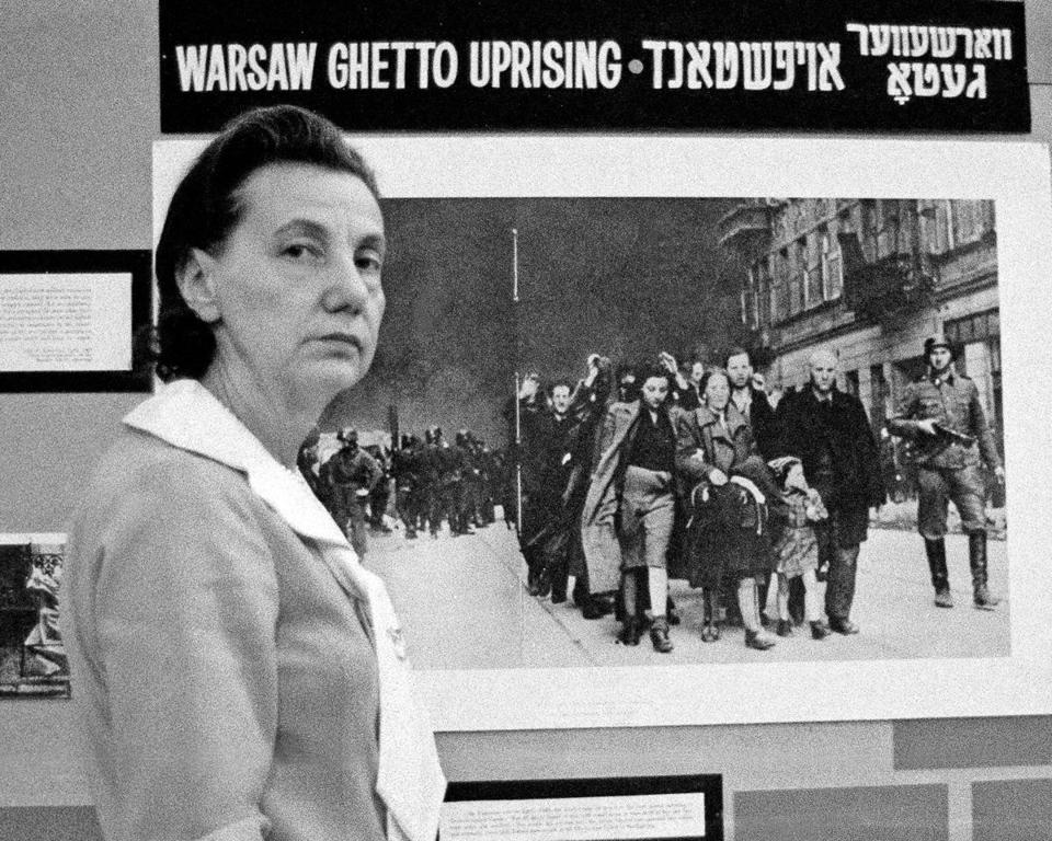 Vladka Meed organized a Warsaw ghetto exhibit in 1973.