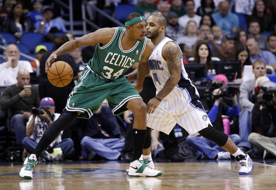 Paul Pierce scored 23 points during Sunday's game against the Orlando Magic.