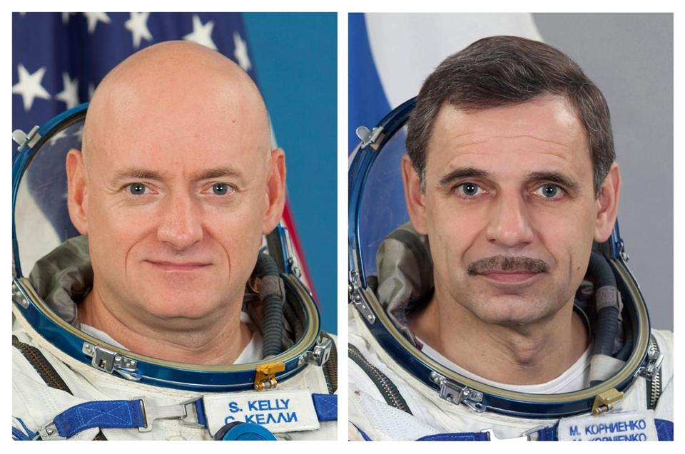 Scott Kelly is the twin brother of Gabrielle Giffords's husband, Mark.