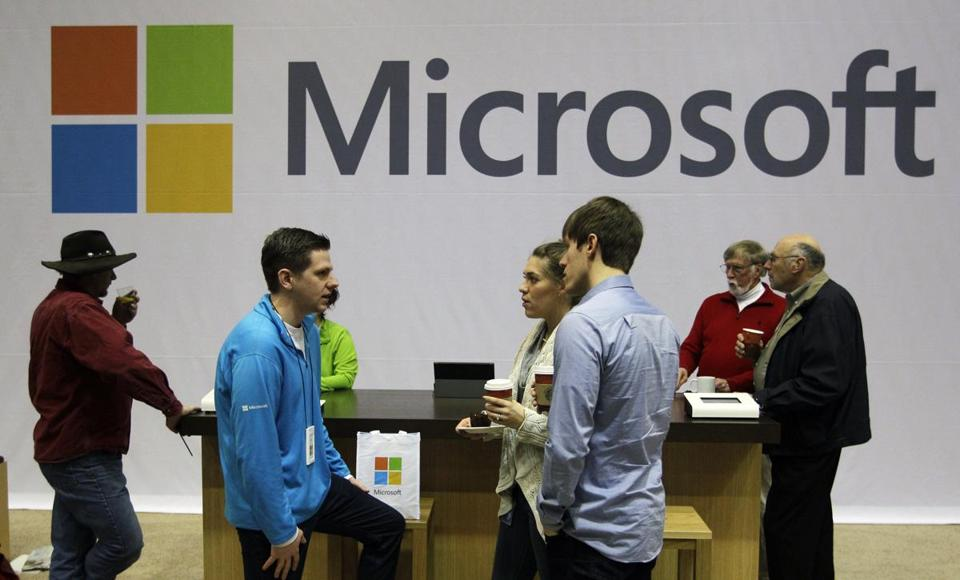 A Microsoft retail store. Microsoft is running ads critical of a change to Google's shopping search results.