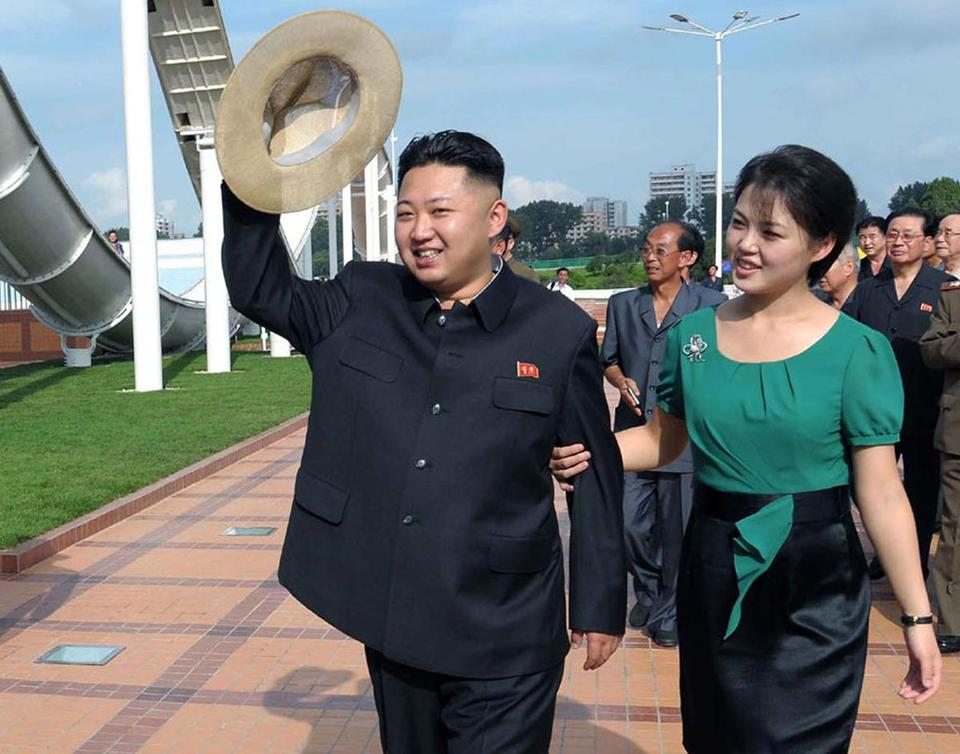 North Korean leader Kim Jong Un, accompanied by his wife Ri Sol Ju, pictured earlier this year in Pyongyang.