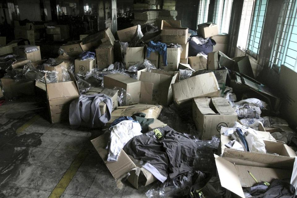The garment factory where 112 people died last weekend was used by a host of major retailers, a reporter found.