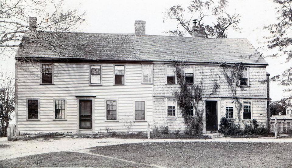 A circa 1890 view shows the Old Clark Tavern.
