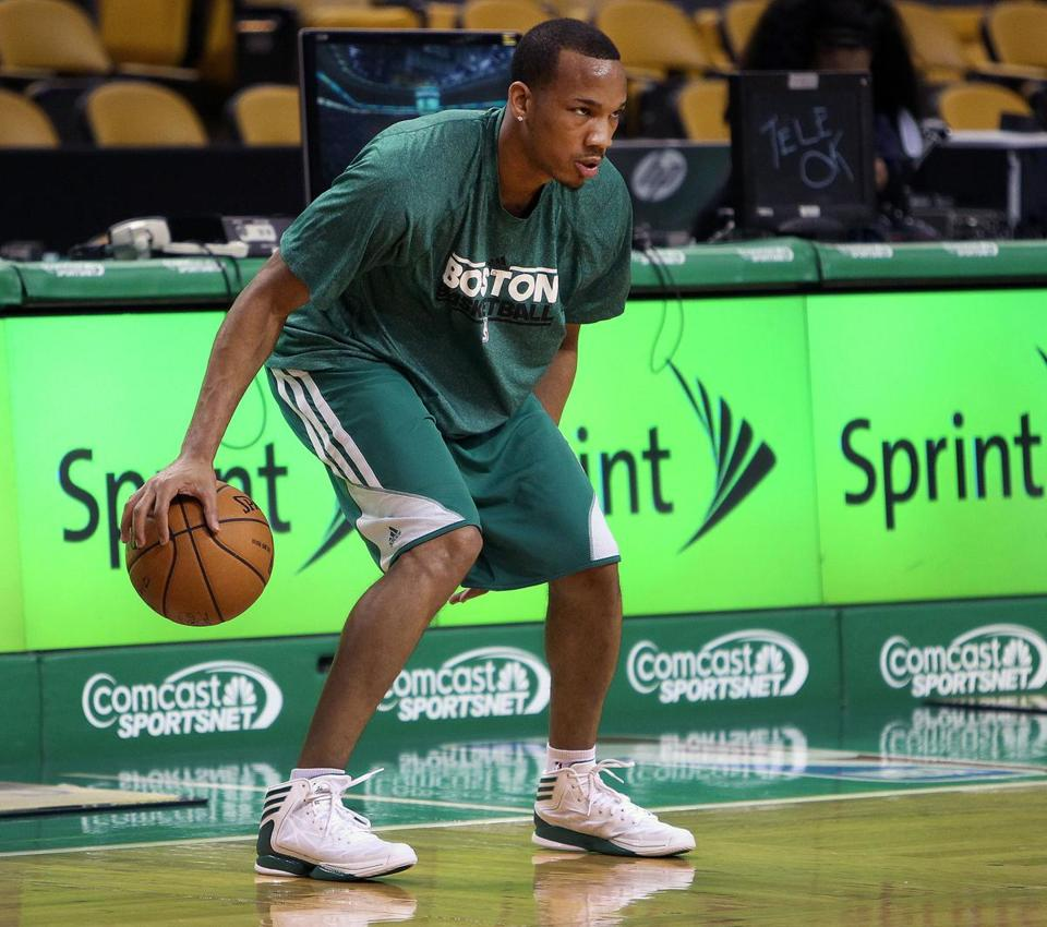 Rehabbing Celtics guard Avery Bradley was on the court hours before tipoff last week.
