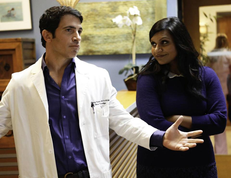 "Mindy Kaling (with Chris Mess) in ""The Mindy Project."" Fox has ordered a full season of the comedy."