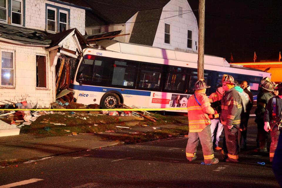 A 6-year-old boy was killed and his brother was hurt when a bus plowed into the front bedroom of their house.