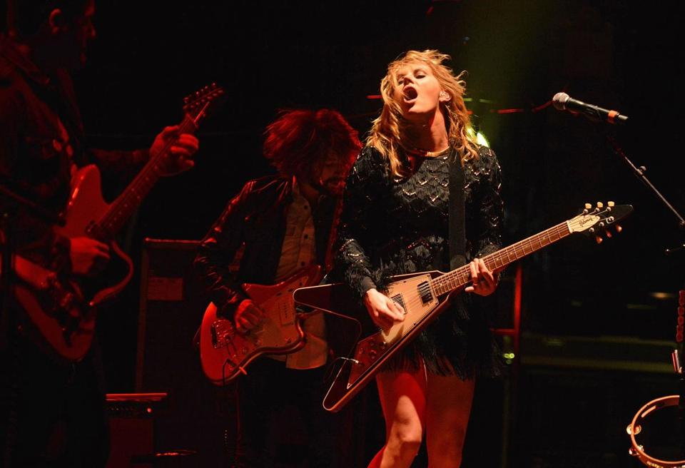 In Boston, Grace Potter (pictured here at New York's Beacon Theater last month) let her crunchiness show through her now more polished sound.