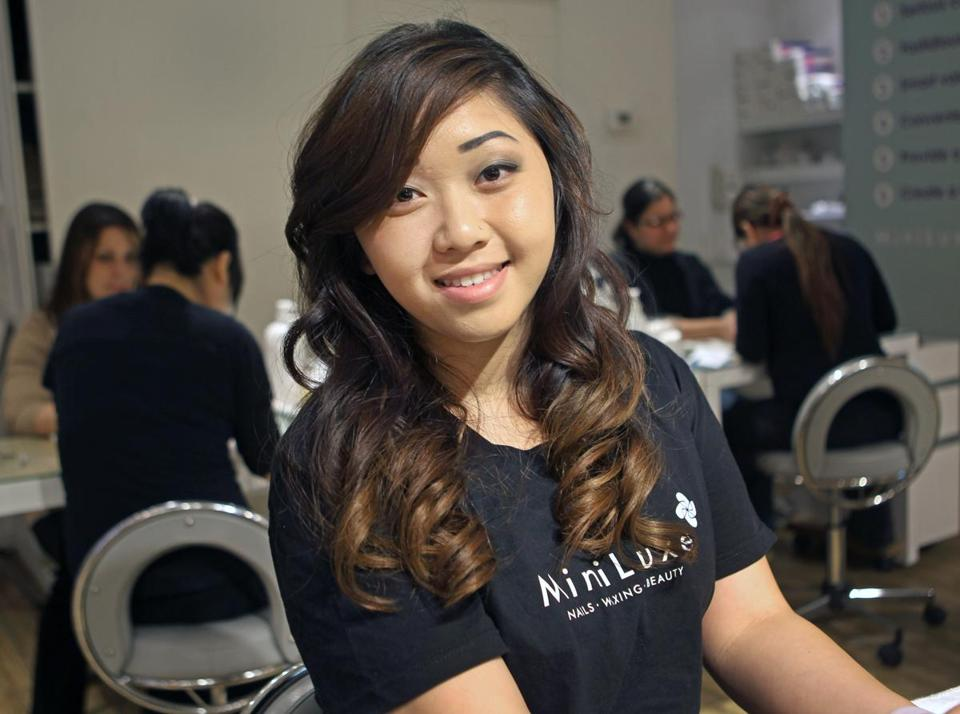Vivian Ong, 21, grew up helping in her aunt's nail salon and applied for her state license the day after turning 17.