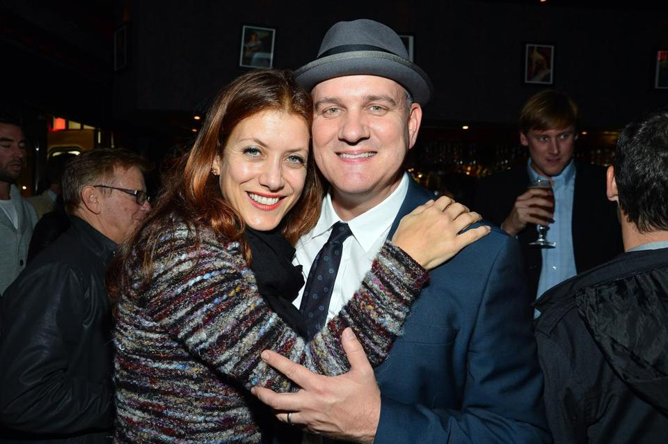 "Kate Walsh and Mike O'Malley at the after-party following the premiere of ""Certainty"" in Los Angeles."
