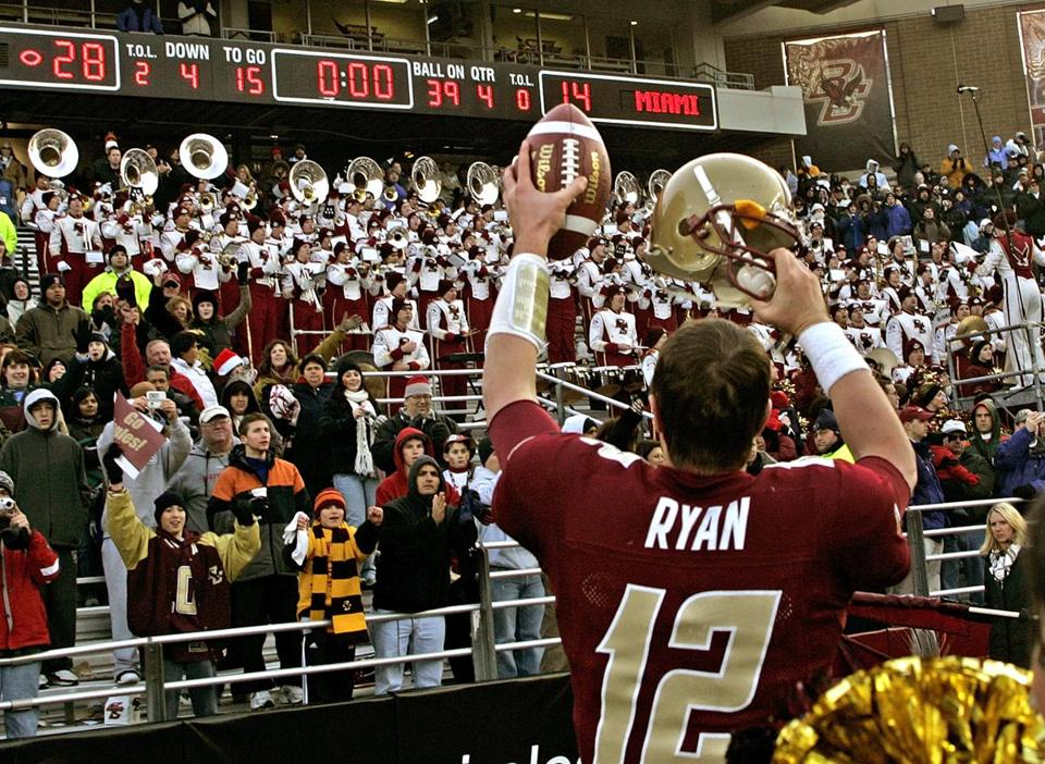 In 2007, Matt Ryan led Boston College to the first of two straight ACC championship game appearances.