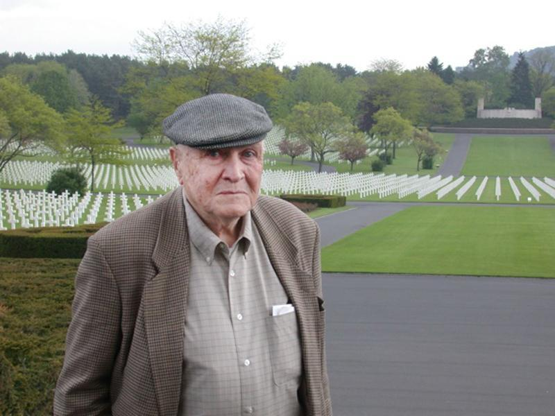 Mr. Earley was photographed during a visit to the Lorraine American Cemetery in France.
