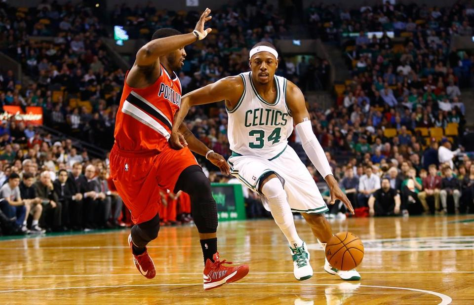 Paul Pierce and the Celtics drove past the Trailblazers, even without Rajon Rondo.