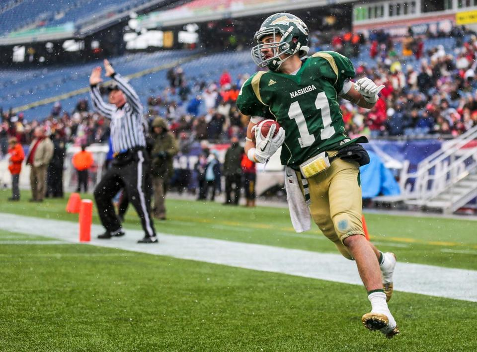 Brady Schartner's interception return for a TD sealed victory for Nashoba, which won its 26th straight game.