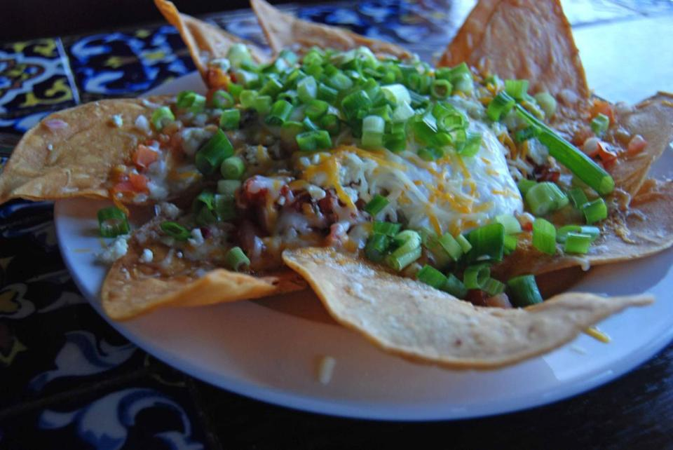 At Pappy and Harriet's Pioneertown Palace, the nachos Von Rabbit is a specialty.