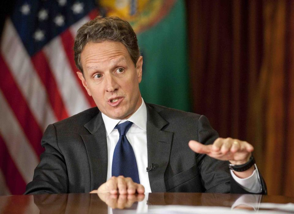 Congressional Republicans and Treasury Secretary Timothy F. Geithner, the lead negotiator for the White House, used the Sunday television news shows to shore up their positions and blame the other side for the impasse.
