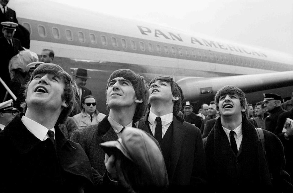 Among the stars of the world of entertainment photographed by Mr. Regan were the Beatles during their arrival in the United States in 1964.