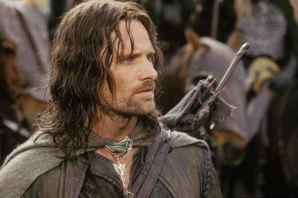 "Viggo Mortensen as Aragorn in ""The Lord of the Rings: The Two Towers."""