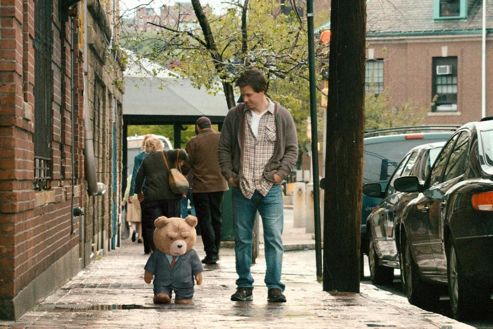 "Mark Wahlberg in the 2012 movie ""Ted."""