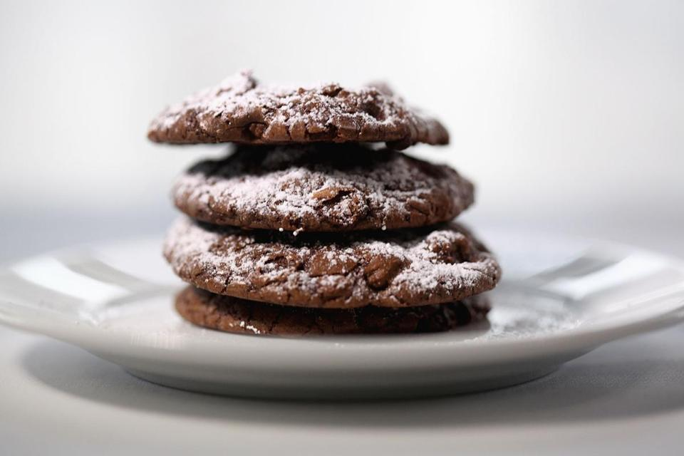 Bittersweet chocolate brownie cookies.