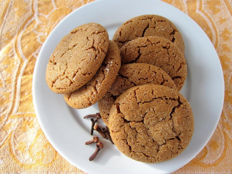 Molasses clove cookies.