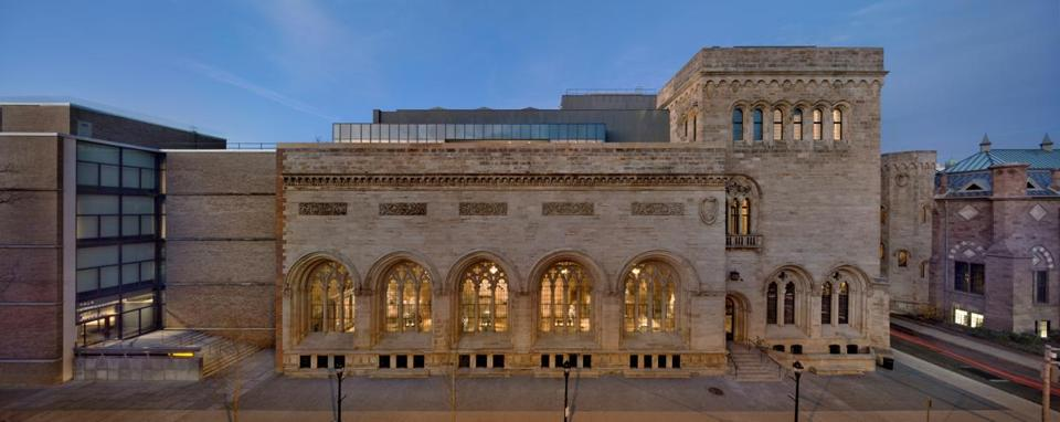 The Yale University Art Gallery, in New Haven, unites three separate buildings into a complex that stretches for a block and a half.