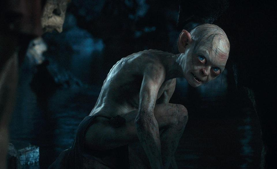 "Andy Serkis as the computer-enhanced Gollum in ""The Hobbit: An Unexpected Journey."""