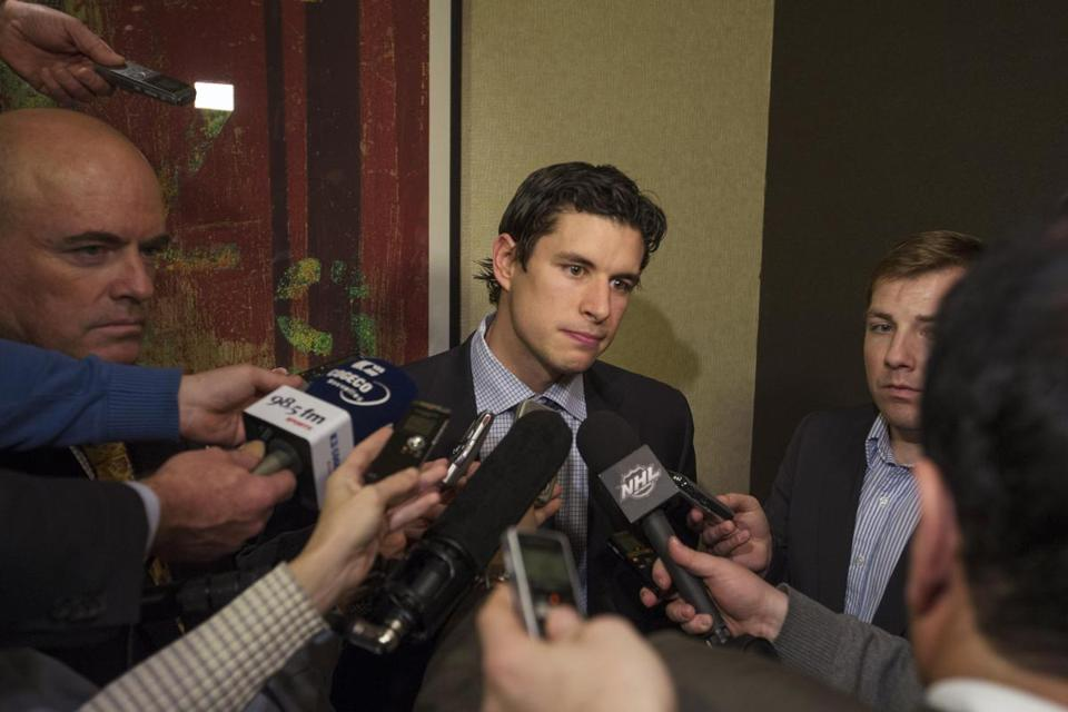 "Sidney Crosby was surprised by the latest breakdown, saying, ""We feel like we moved in their direction."""