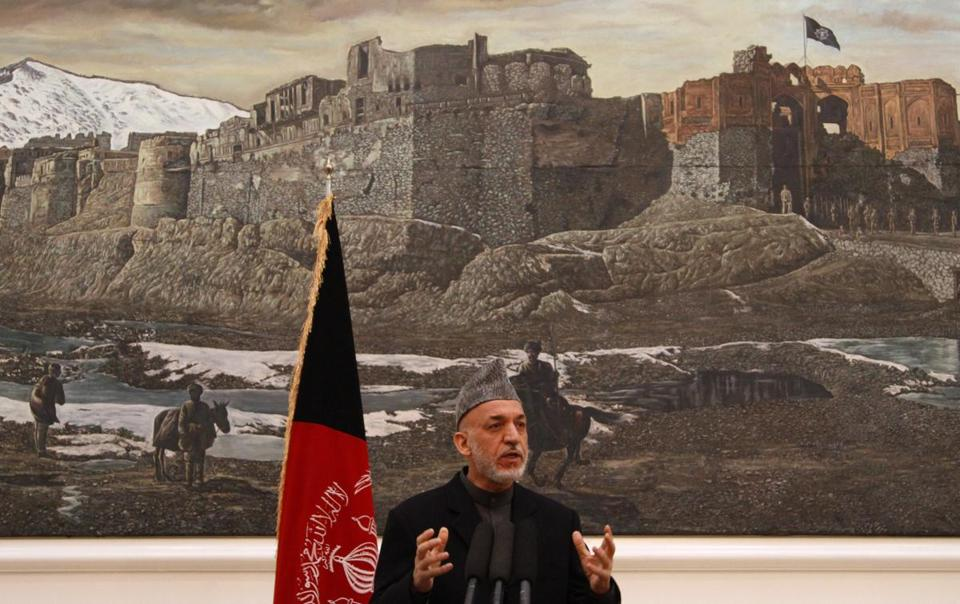 Afghan leader Hamid Karzai in Kabul said an assassination attempt on the nation's spy chief was planned in Pakistan.