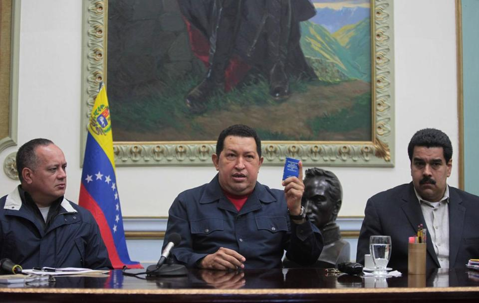 Hugo Chavez was elected in October to a new six-year term.