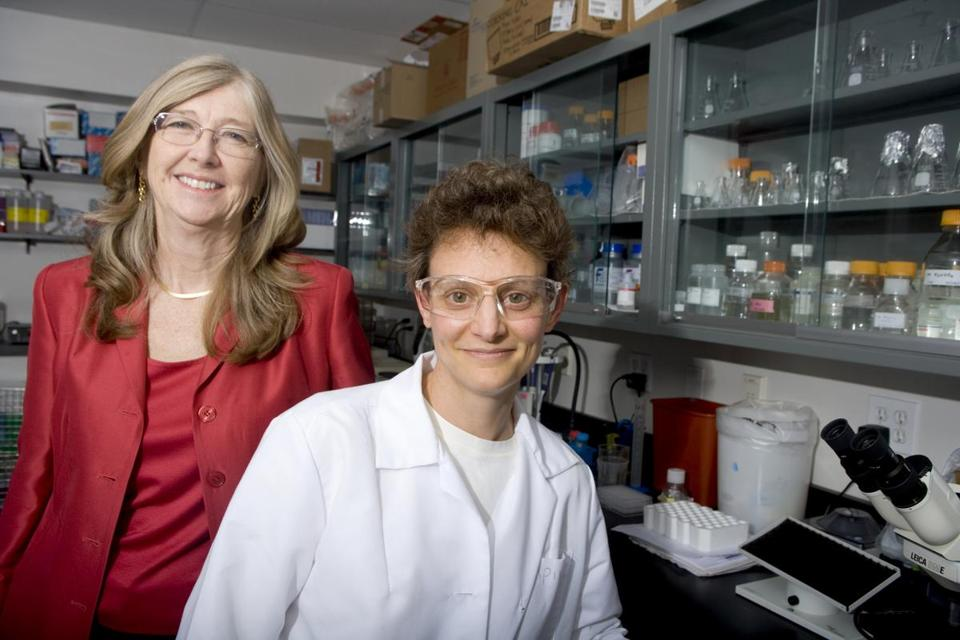 Martha Farmer and Deborah Moshinsky in the lab of Cell Assay Innovations, one of the firms aided by North Shore InnoVentures.