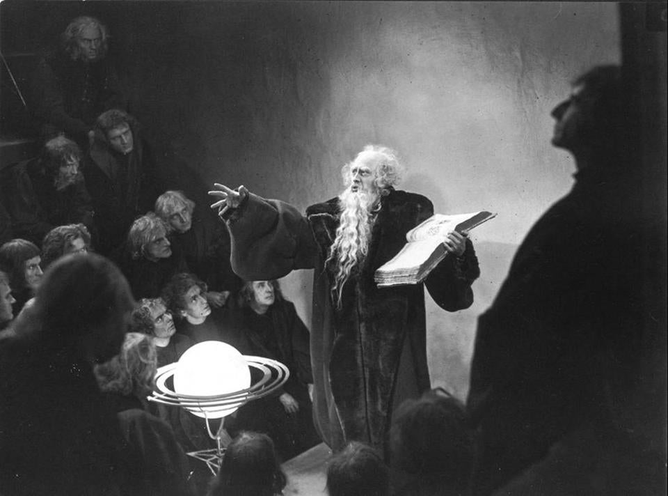 Gösta Ekman as Faust in F.W. Murnau's 1926 silent film to be screened at Coolidge Corner with a new score.