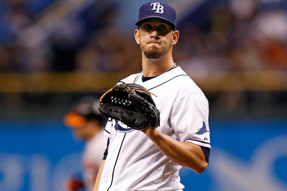 The Rays lopped more money off their payroll by trading much-sought-after pitcher James Shields and righthander Wade Davis to Kansas City for slugging outfielder Wil Myers and other prospects.