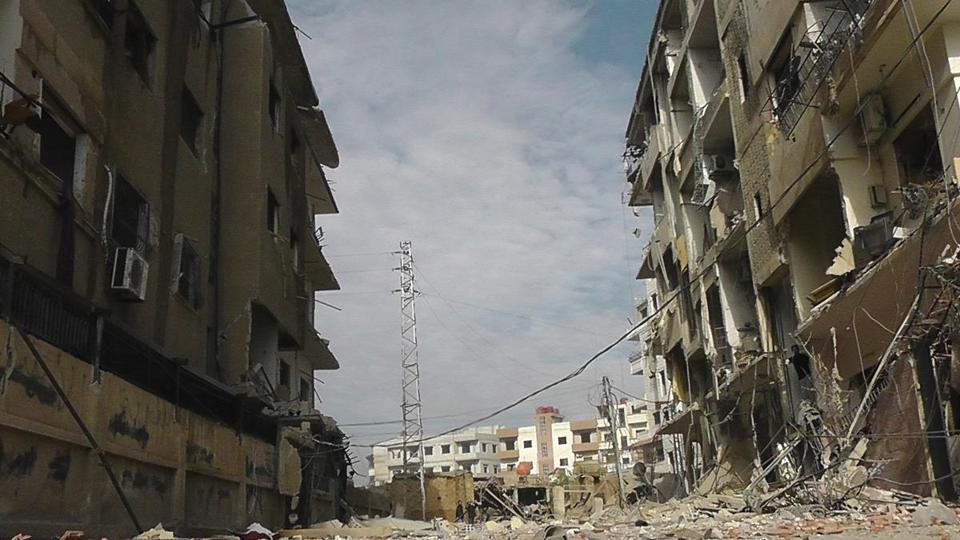 The fighting in Syria has reportedly claimed 40,000 lives. Above, a neighborhood in Damascus was bombed this week.