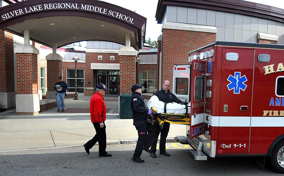 A Silver Lake Regional School student was placed in an ambulance Wednesday after several complained of not feeling well during a concert rehearsal. School Superintendent John Tuffy is looking into the cause of the incident.