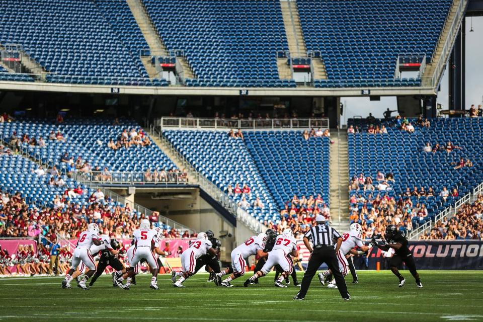 Poor ticket sales in the team's first season at Gillette Stadium have contributed to a $715,000 cost overrun.