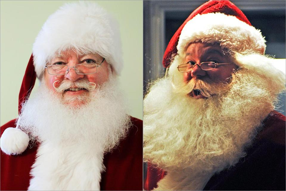 Real-bearded Dan Greenleaf (left) must be nice all year. Jim Manning says real whiskers aren't needed.