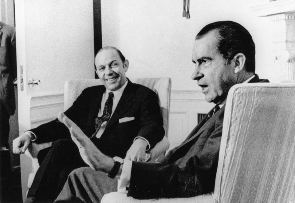 James D. Hodgson with President Nixon in 1971.