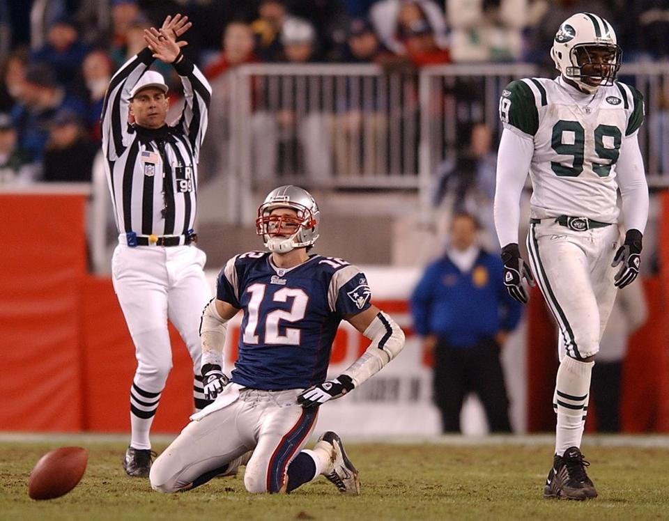Tom Brady last tasted defeat at home in December in this Dec. 22, 2002, loss to the Jets.