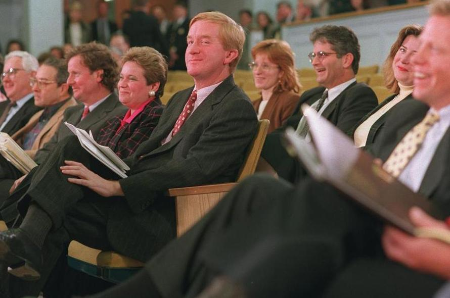 Governor Bill Weld before addressing the Legislature in 1994.