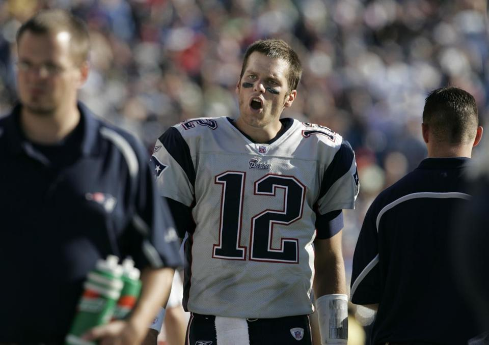 Tom Brady was animated as his team sank even further during the fourth quarter.