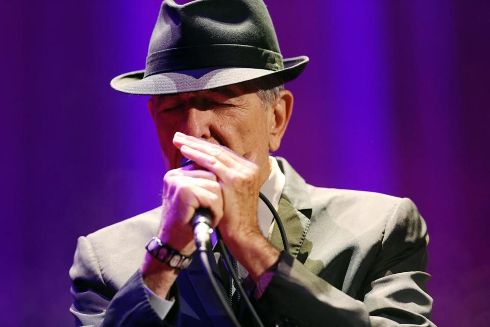 Singer-songwriter Leonard Cohen, pictured here in Paris in September, played the Citi Wang Theatre Saturday night.